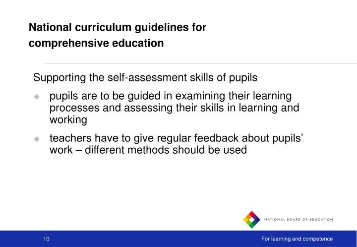 National curriculum guidelines for