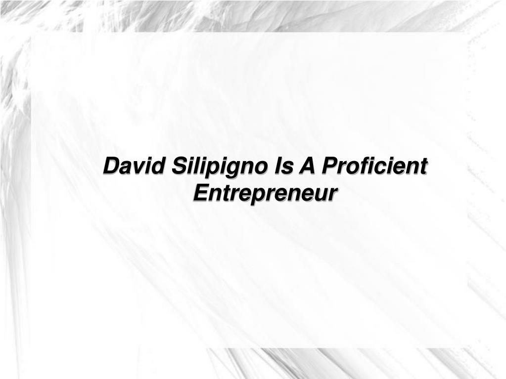 David Silipigno Is A Proficient Entrepreneur