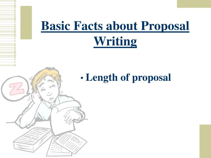 Basic Facts about Proposal Writing