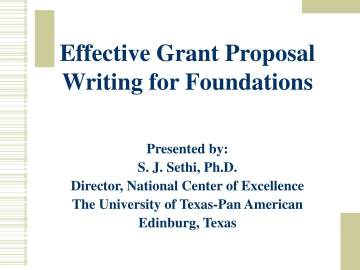 Effective Grant Proposal Writing for Foundations