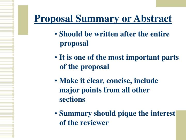 Proposal Summary or Abstract