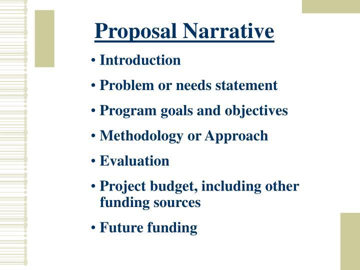 Proposal Narrative