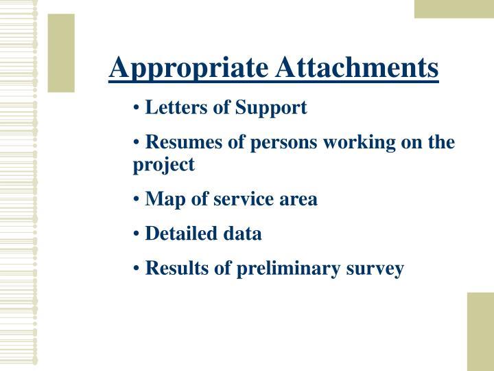 Appropriate Attachments