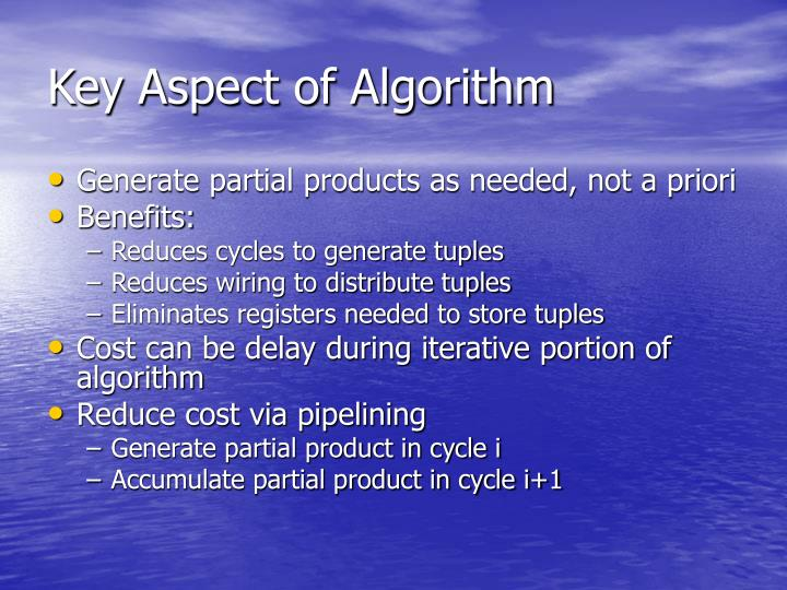 Key Aspect of Algorithm