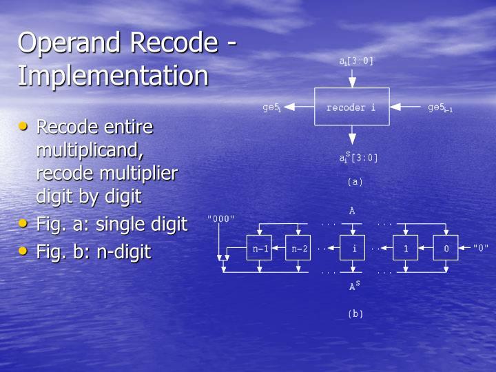 Operand Recode -