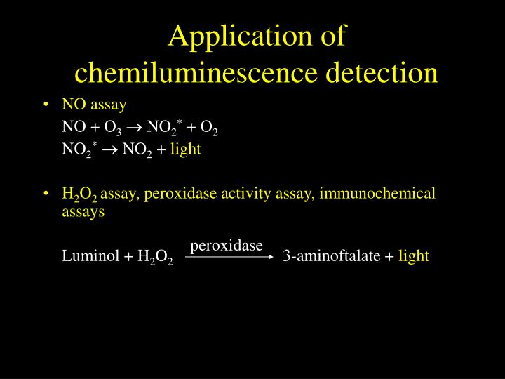 Application of chemiluminescence detection