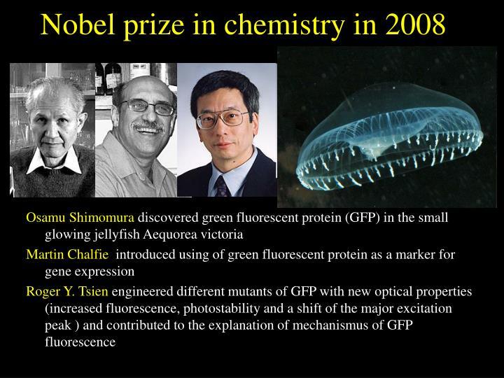 Nobel prize in chemistry in 2008