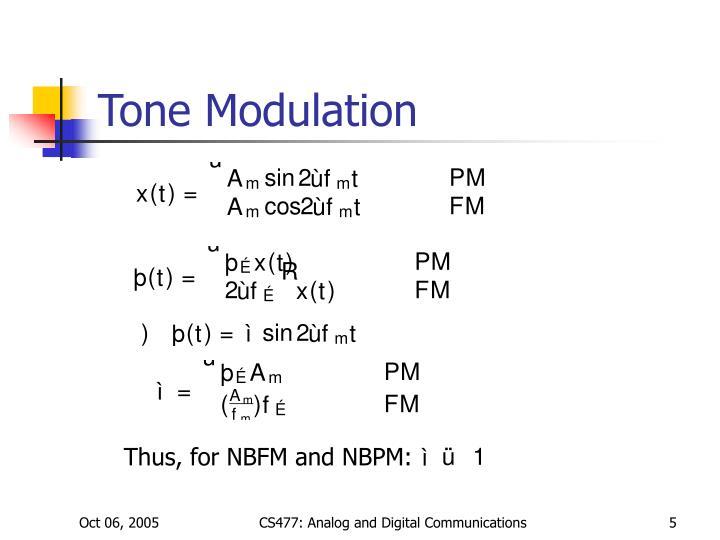 Tone Modulation