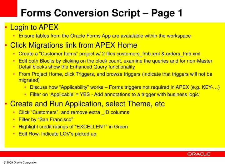 Forms Conversion Script – Page 1