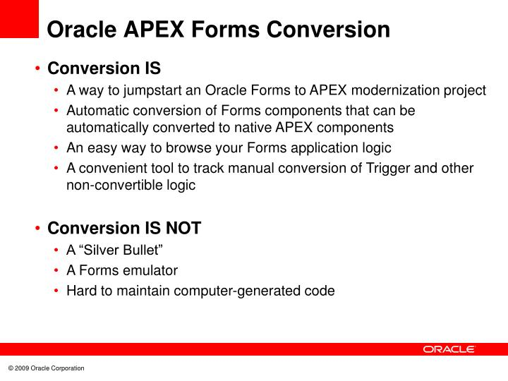 Oracle APEX Forms Conversion