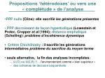 propositions h t rodoxes ou vers une compl tude de l analyse