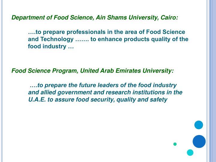 Department of Food Science,