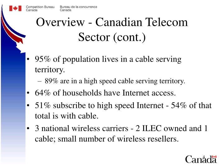 Overview - Canadian Telecom Sector (cont.)
