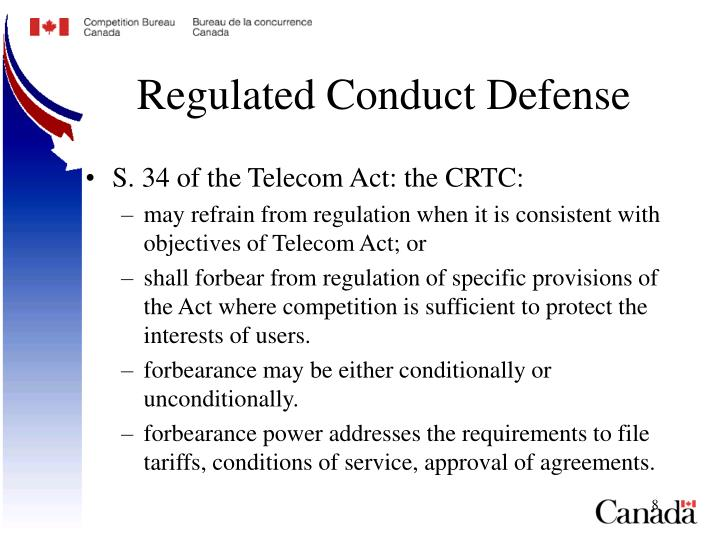 Regulated Conduct Defense