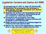 legislation coroners and justice act 2009