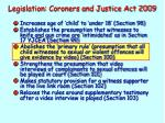 legislation coroners and justice act 20091