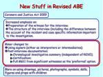 new stuff in revised abe2