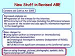 new stuff in revised abe3