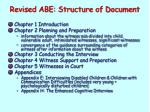 revised abe structure of document