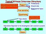 typical witness interview structure