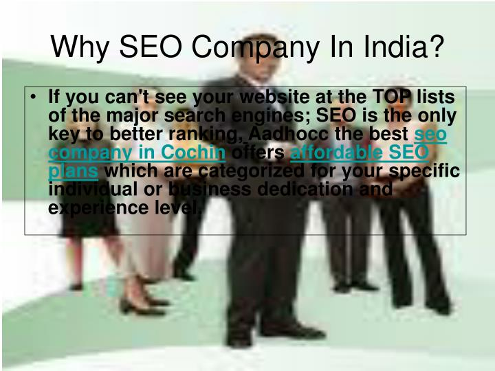 Why seo company in india