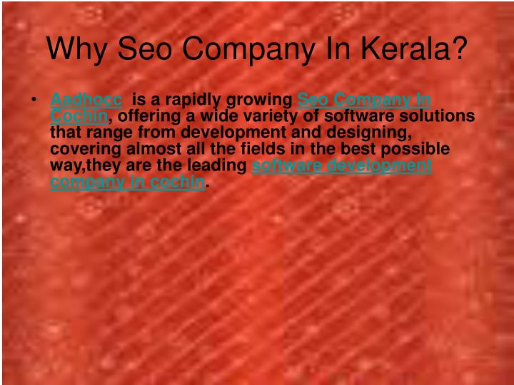 Why Seo Company In Kerala?