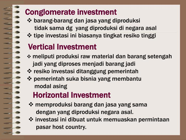 Conglomerate investment