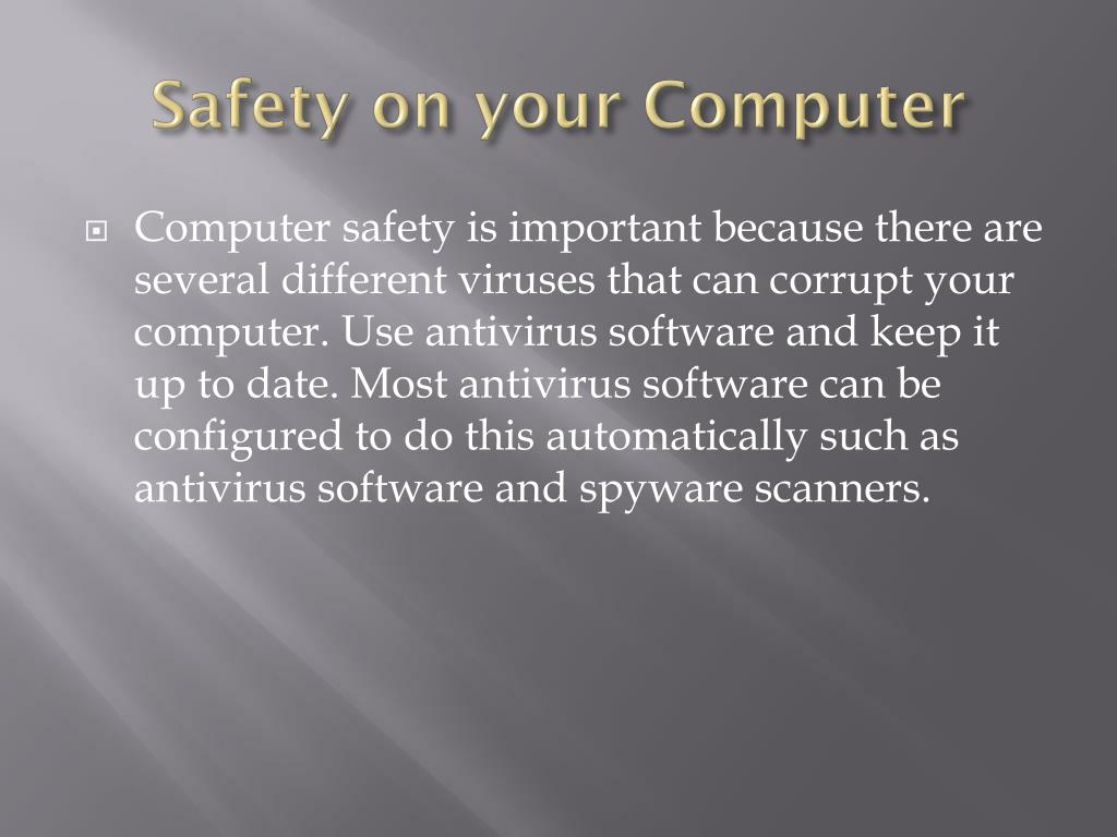 Safety on your Computer