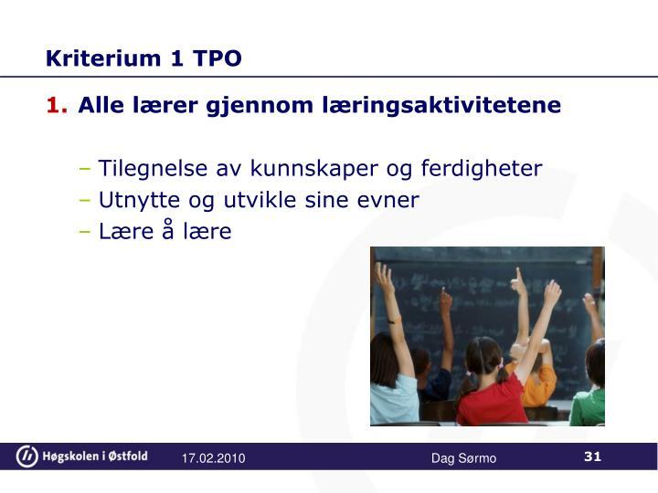 Kriterium 1 TPO