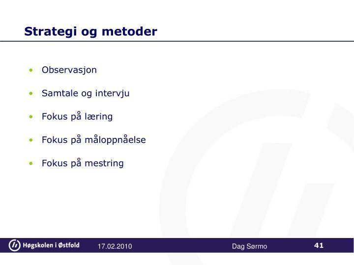 Strategi og metoder