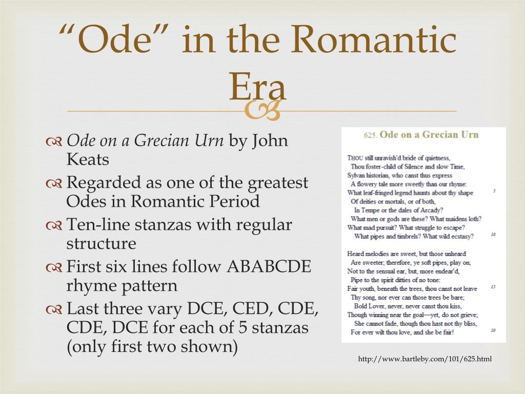 """Ode"" in the Romantic Era"