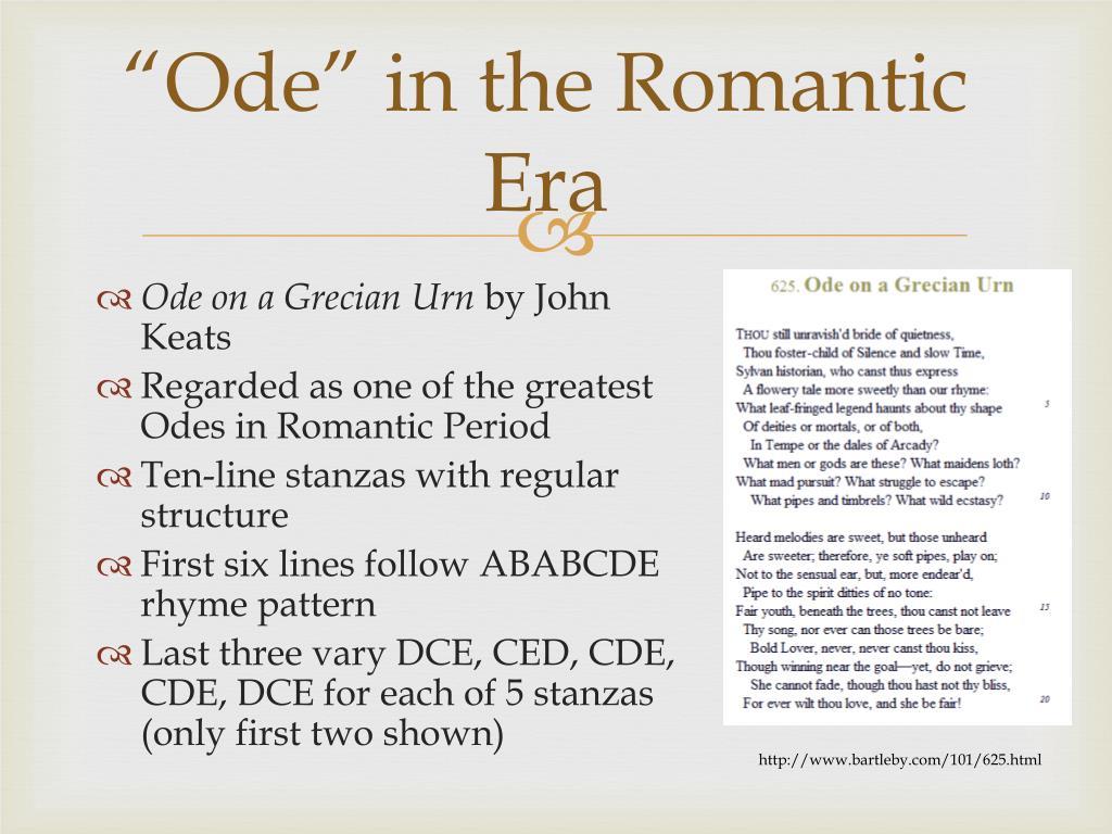 """Ode"" in the Romantic Era"