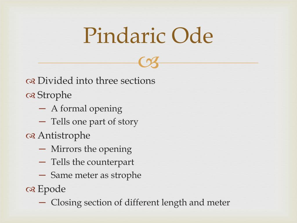Pindaric Ode