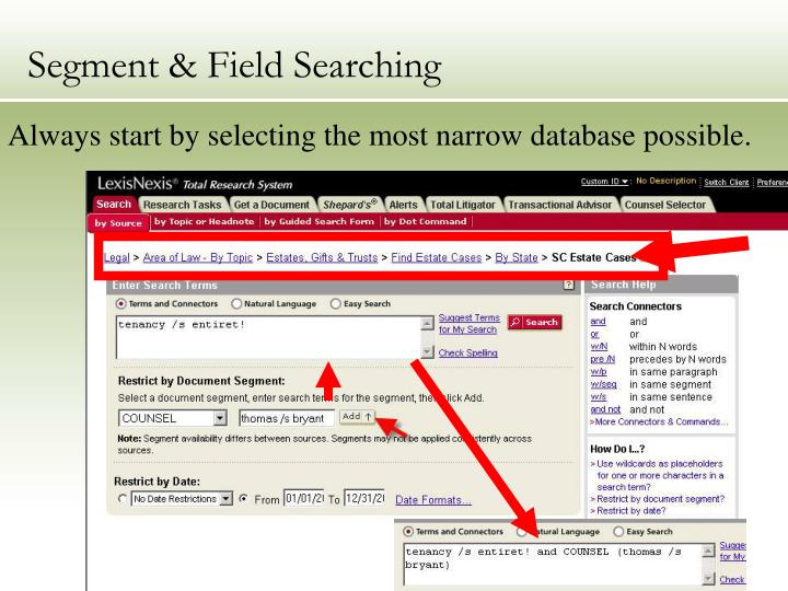 Segment & Field Searching