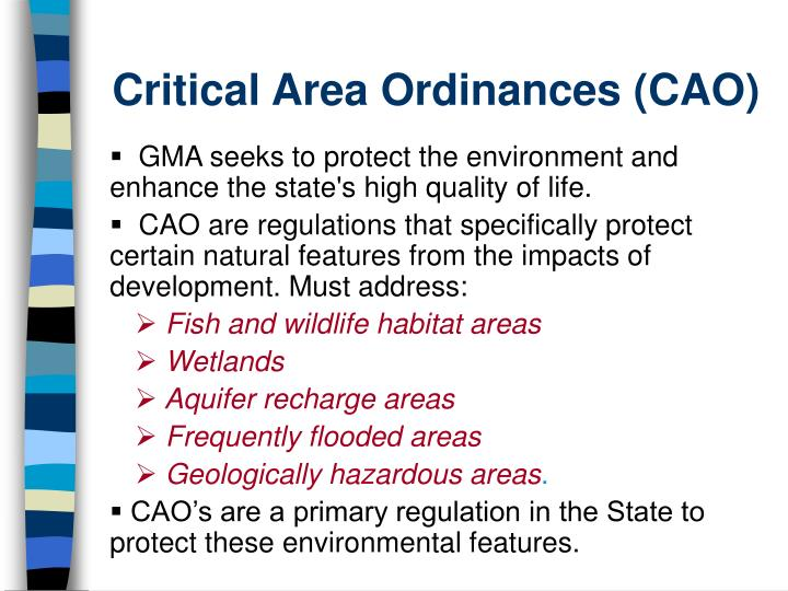 Critical Area Ordinances (CAO)