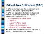 critical area ordinances cao