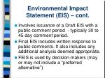 environmental impact statement eis cont