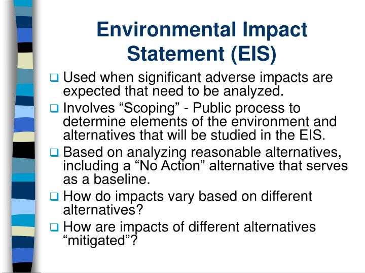 Environmental Impact Statement (EIS)