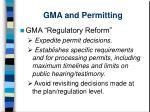 gma and permitting