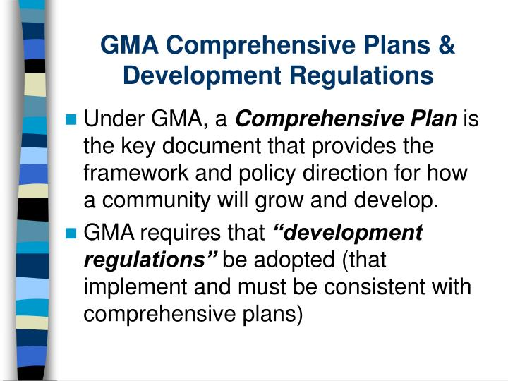 GMA Comprehensive Plans & Development Regulations