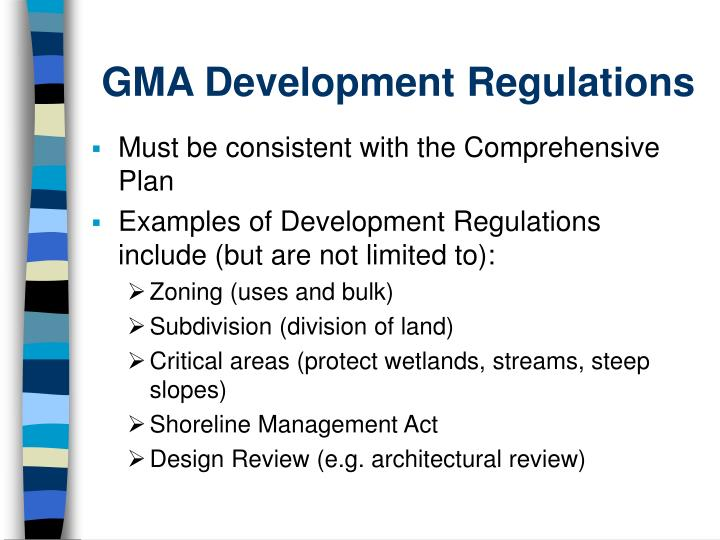 GMA Development Regulations