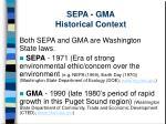 sepa gma historical context