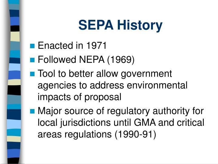 SEPA History