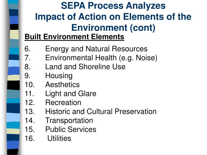 SEPA Process Analyzes