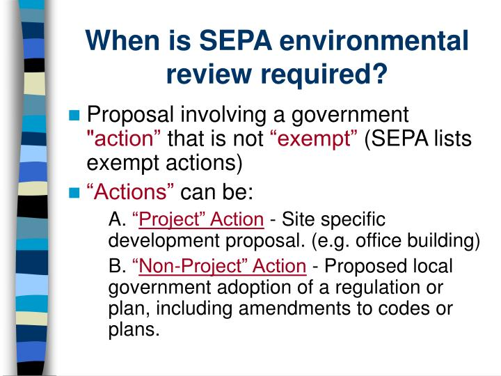 When is SEPA environmental review required?