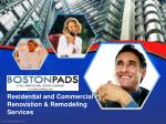 residential and commercial renovation remodeling services