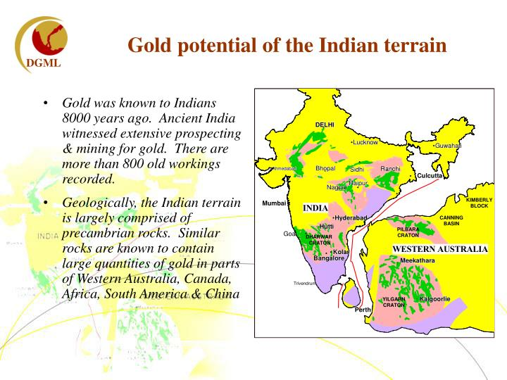 Gold potential of the Indian terrain