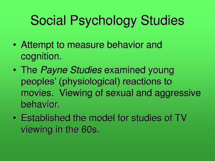Social psychology studies