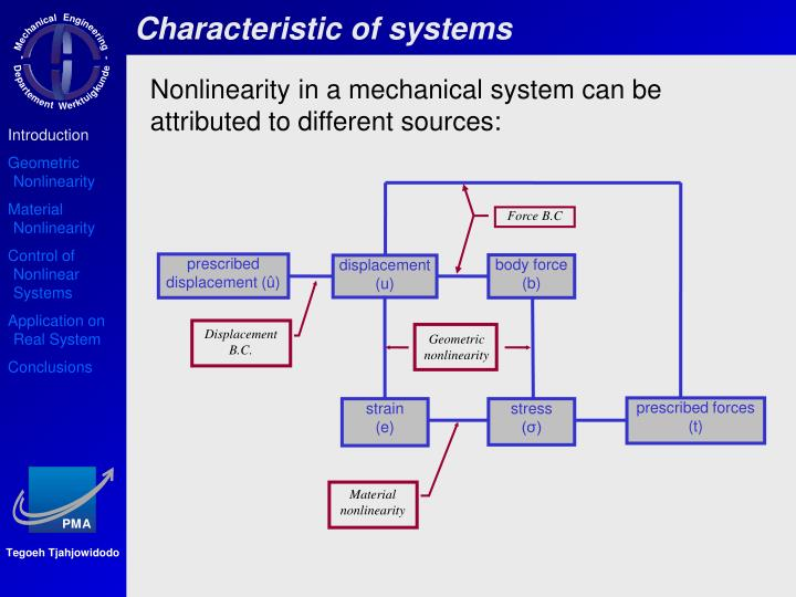 Characteristic of systems
