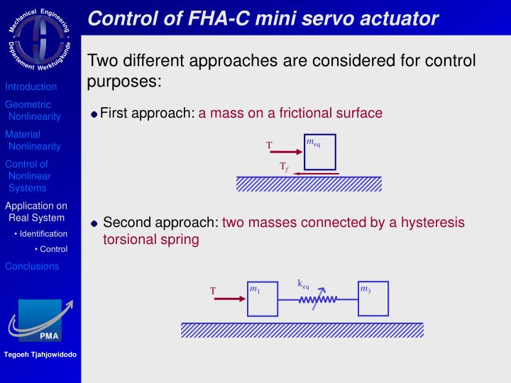 Control of FHA-C mini servo actuator